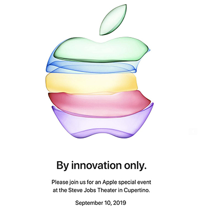 Invitation Apple a l innovation le 10 09 2019