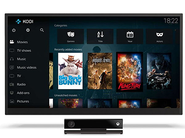 Kodi disponible sur xbox one