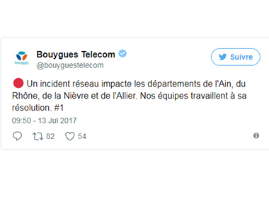 inscident Bouygues Telecom