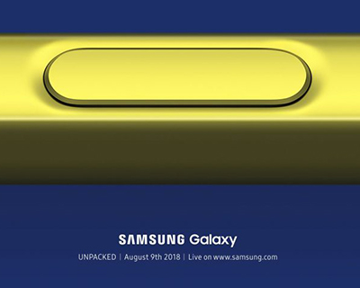 Galaxy Note 9 officiel le 9 Aout