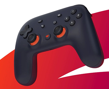 Manette gaming du service Stadia cloud gaming de Google