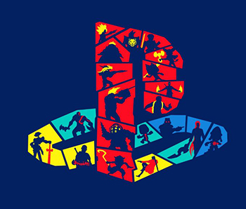 playstation logo wallpaper 1024x576