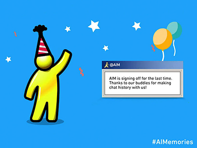 1006 aim coming to an end aol instant messenger twitter 4