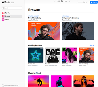 Site Apple Music 2019